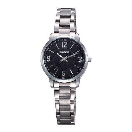 Relógio Feminino Skone Analógico 7308L Preto-