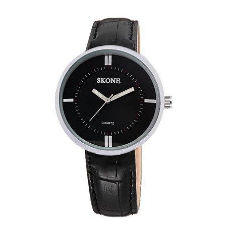 Relógio Feminino Skone Analógico 9100 Preto-