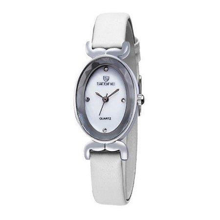 Relógio Feminino Skone Analógico 9276 Branco-