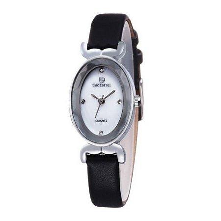 Relógio Feminino Skone Analógico 9276 Preto-