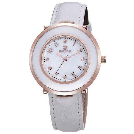 Relógio Feminino Skone Analógico 9293 Branco-