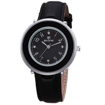 Relógio Feminino Skone Analógico 9293 Preto-