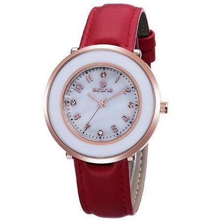 Relógio Feminino Skone Analógico 9293 Vermelho-