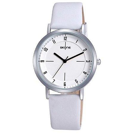 Relógio Feminino Skone Analógico 9340 Branco-