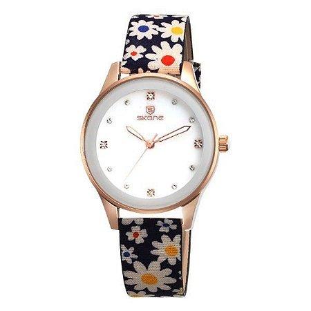 Relógio Feminino Skone Analógico 9386 Azul-