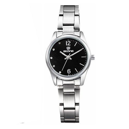 Relógio Feminino Skone Analógico Casual 7297L Preto-