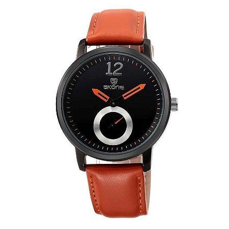 Relógio Feminino Skone Analógico Casual 9240-1G Laranja-