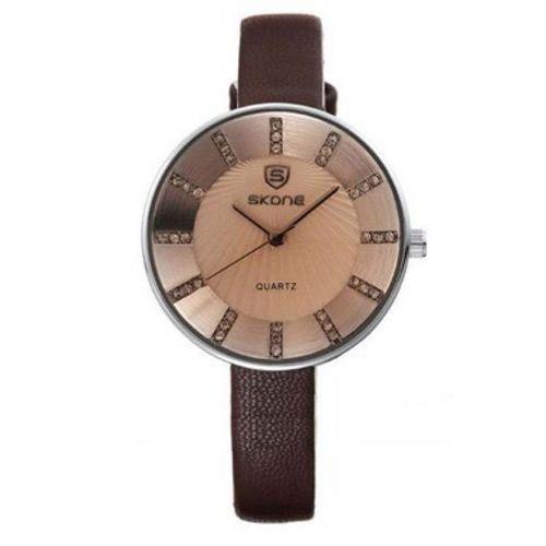 Relógio Feminino Skone Analógico Casual 9250 Marrom-