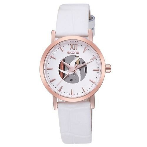 Relógio Feminino Skone Analógico Casual 9311 Branco-