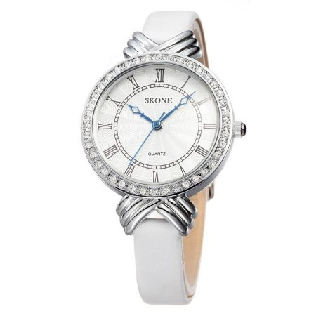 Relógio Feminino Skone Analógico Casual Branco 9092-