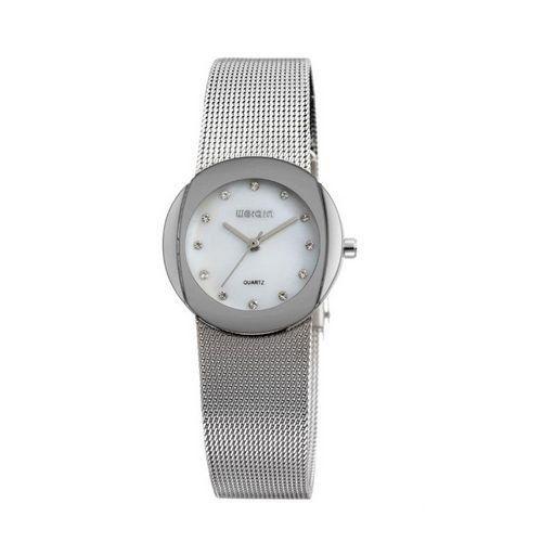 Relógio Feminino Skone Analógico Casual W4590-3 Prata-
