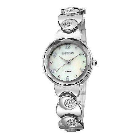 Relógio Feminino Skone Analógico Casual W4763 Prata-
