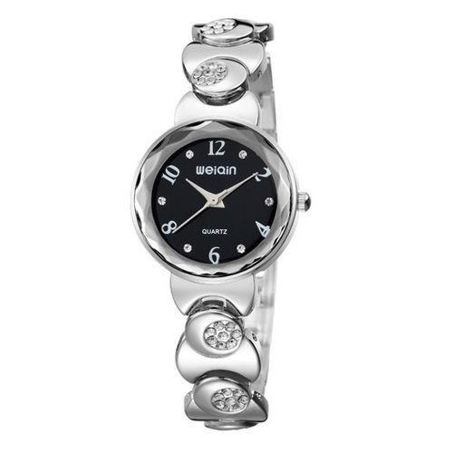 Relógio Feminino Skone Analógico Casual W4763-3 Preto-