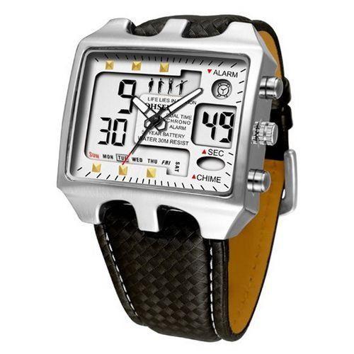 Relógio Masculino Ohsen AnaDigi Casual AD0930 Prata-