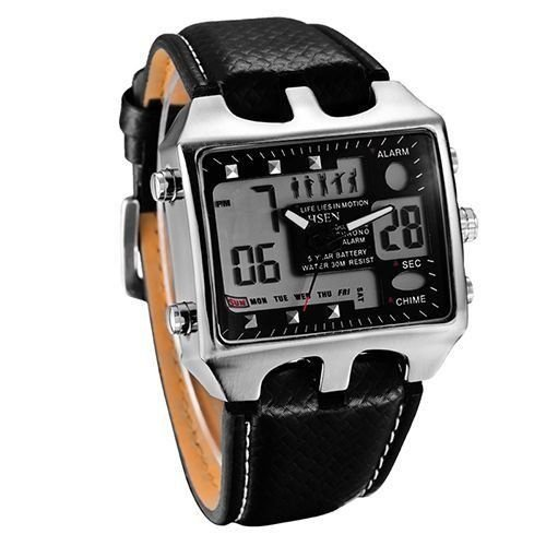 Relógio Masculino Ohsen AnaDigi Casual AD0930 Preto-