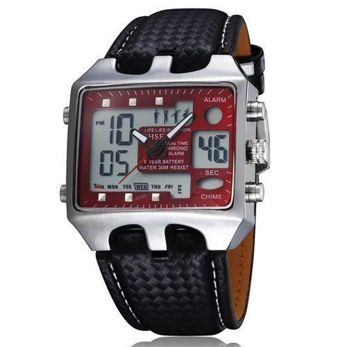 Relógio Masculino Ohsen AnaDigi Casual AD0930 Vermelho-