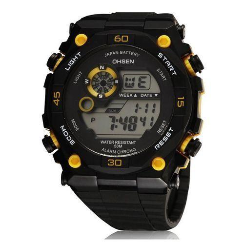 Relógio Masculino Ohsen AnaDigi Esporte 2810 Amarelo-