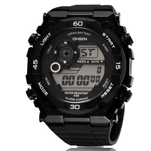 Relógio Masculino Ohsen AnaDigi Esporte 2810 Preto-