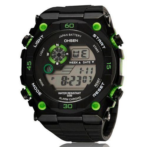 Relógio Masculino Ohsen AnaDigi Esporte 2810 Verde-