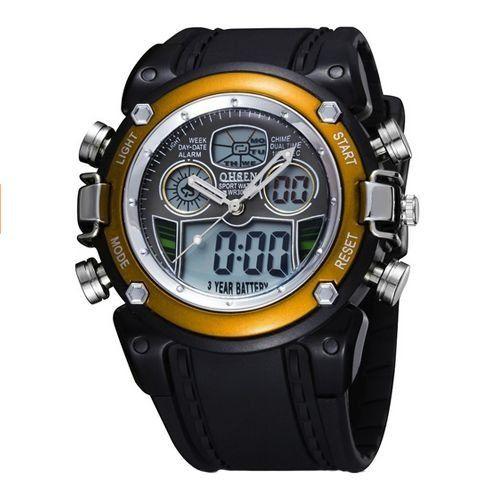 Relógio Masculino Ohsen AnaDigi Esporte AD0721 Amarelo-