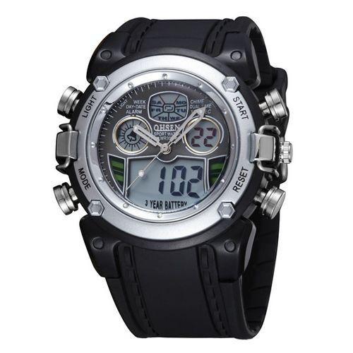 Relógio Masculino Ohsen AnaDigi Esporte AD0721 Prata-