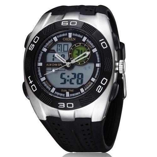 Relógio Masculino Ohsen AnaDigi Esporte AD0828 Prata-