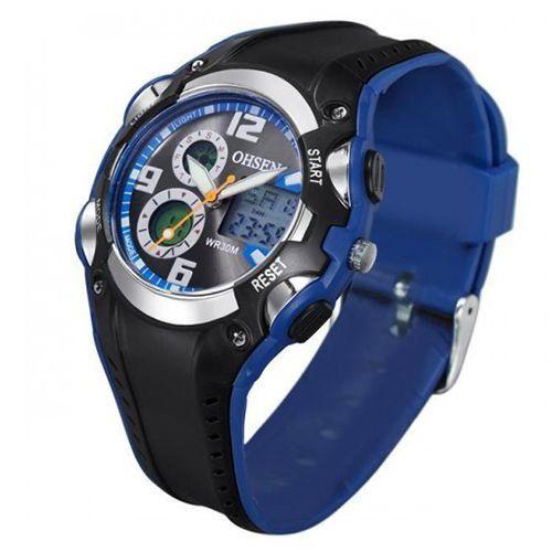 Relógio Masculino Ohsen AnaDigi Esporte AD1309 Azul-