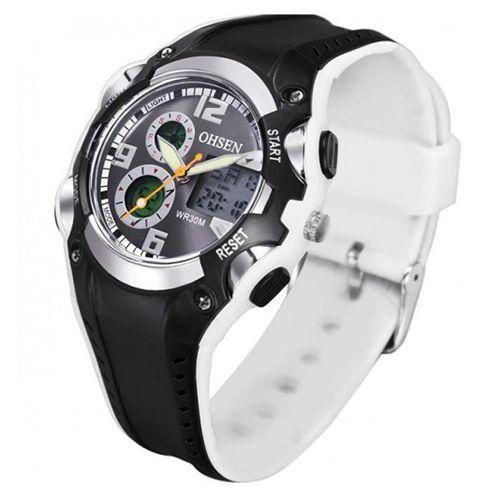 Relógio Masculino Ohsen AnaDigi Esporte AD1309 Branco-