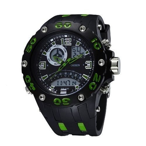 Relógio Masculino Ohsen AnaDigi Esporte AD2801 Verde-