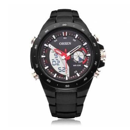 Relógio Masculino Ohsen AnaDigi Esporte AD2802 Preto-