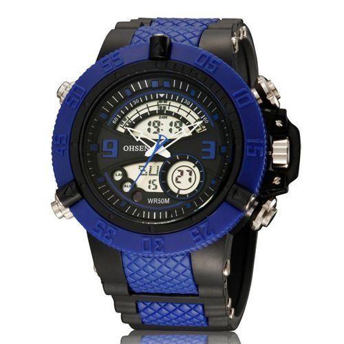 Relógio Masculino Ohsen AnaDigi Esporte AD2811 Azul-