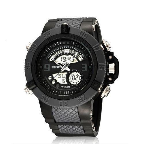 Relógio Masculino Ohsen AnaDigi Esporte AD2811 Cinza-