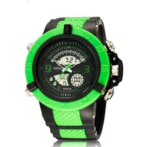 Relógio Masculino Ohsen AnaDigi Esporte AD2811 Verde-