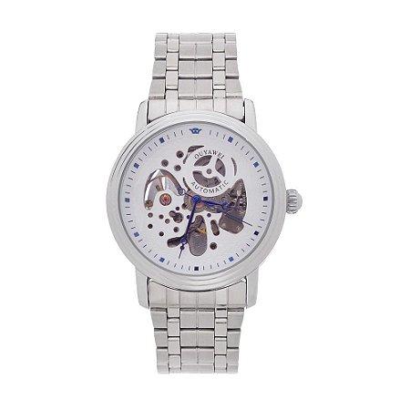 Relógio Automático Masculino Ouyawei Analógico 11820 - Prata e Branco