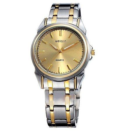 Relógio Masculino Weiqin Analógico Casual W0031AG Dourado-