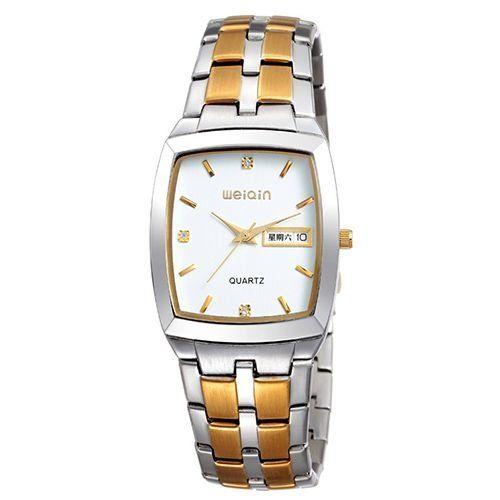 Relógio Masculino Weiqin Analógico Casual W0052 Prata e Dourado-