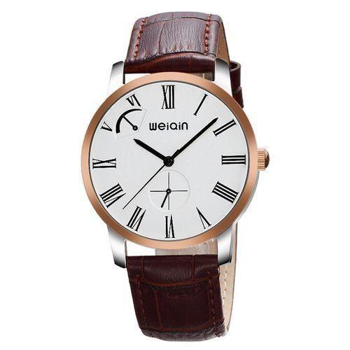 Relógio Masculino Weiqin Analógico Casual W23056 Prata e Dourado-