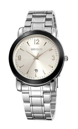 Relógio Masculino Weiqin Analógico W0074BG Prata-