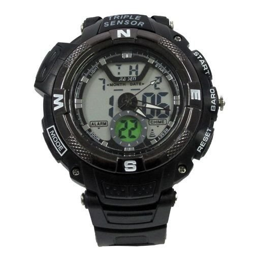 Relógio Masculino Jia Sen AnaDigi Esporte 8935 Preto-