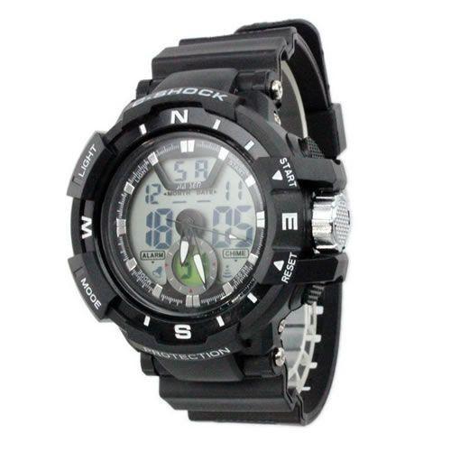 Relógio Masculino Jia Sen AnaDigi Esporte 8938 Preto-