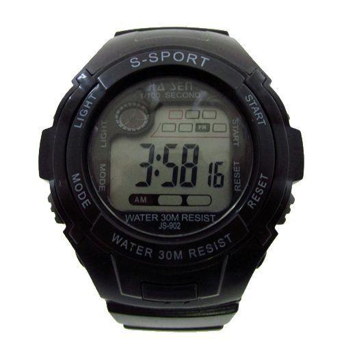 Relógio Masculino Jia Sen AnaDigi Esporte 902 Preto-
