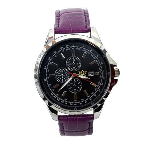 Relógio Masculino Kasi/Fmero Analógico Casual Y005 Roxo-