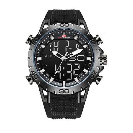 Relógio Masculino Kat-Wach AnaDigi KT1812 - Preto