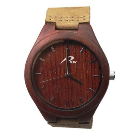 Relógio Masculino PSW Analógico Madeira PSW3 Vermelho-