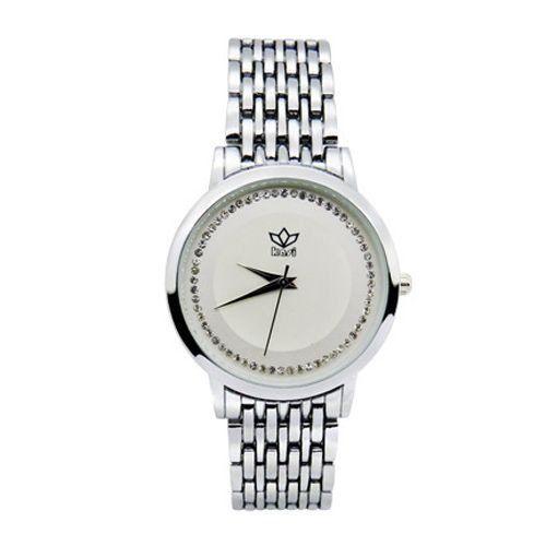 Relógio Feminino Kasi/Fmero Analógico Casual 8107 Prata-