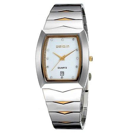 Relógio Feminino Weiqin Analógico Casual W0045BG Branco-