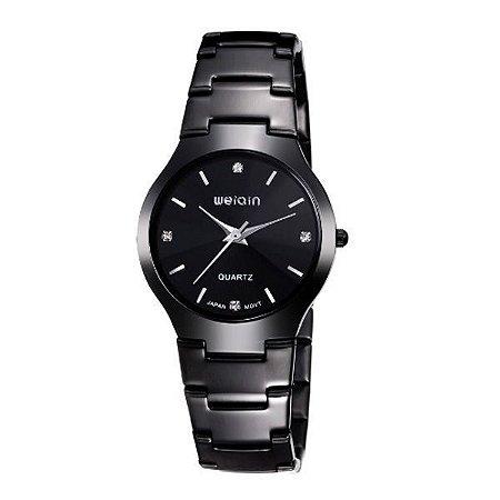 Relógio Feminino Weiqin Analógico W4164G Preto-