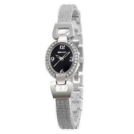 Relógio Feminino Weiqin Analógico W4592 Preto-