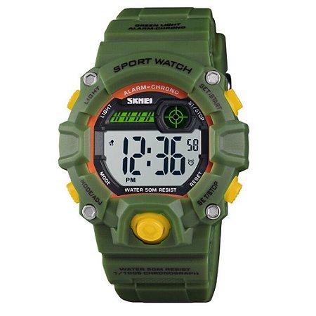 Relógio Infantil Skmei Digital 1484 Verde e Amarelo