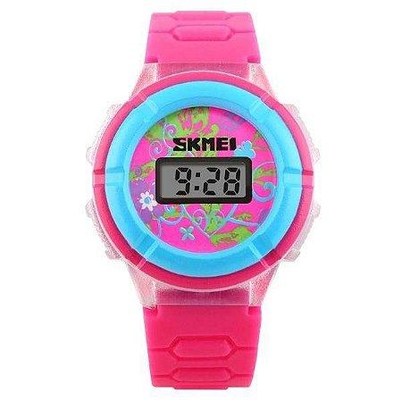 Relógio Infantil Skmei Digital 1097 - Rosa e Azul Claro
